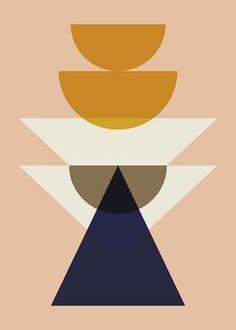 Ferm Living - Maya Poster 50 x 70 cm Rose