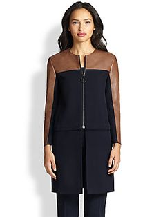 Akris Punto Convertible Wool Coat