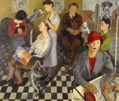 Isaac Soyer, Art Beauty Shoppe, 1934