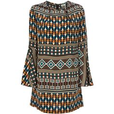 Issa Printed Tunic Dress (1.345 BRL) ❤ liked on Polyvore