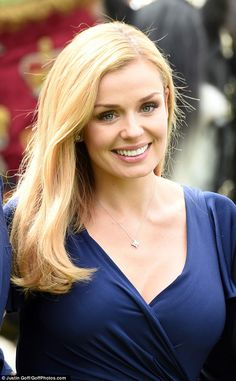 Attention to detail: A slick of pink lip shine and well-defined eyes rounded off Katherine. Beautiful Young Lady, Most Beautiful Faces, Gorgeous Women, Katherine Jenkins, Lip Shine, Celebs, Celebrities, Pink Lips, Midnight Blue