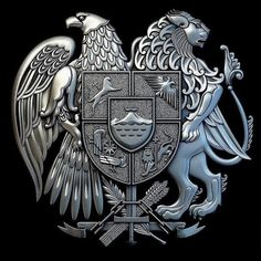 Armenian Coat of Arms - this is the furthest that my haratige can be traced… Armenian History, Armenian Culture, Mode Country, Shield Tattoo, 3d Cnc, Crest Logo, Family Crest, Animal Wallpaper, Crests