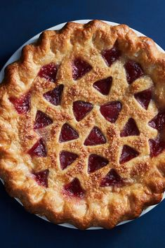 NYT Cooking: The deliciously tart apple butter filling in this pie has a deep ro. Butter Pie, Apple Butter, Pie Recipes, Dessert Recipes, Baking Stone, Thanksgiving Pies, Berry Pie, Just Desserts, Sweet Tooth