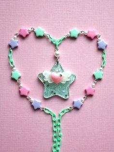 Fairy Kei Star Wings Necklace