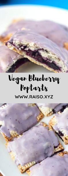 Vegan Blueberry Poptarts - Veggie/Vegan or Healthy Stuffs - Blueberry Recipes Vegan Sweets, Vegan Desserts, Vegan Recipes, Dessert Recipes, Cooking Recipes, Dessert Healthy, Breakfast Dessert, Vegan Breakfast, Blueberry Breakfast