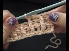 Boordsteek / ribsteek haken - by mom kim -  Post Stitch Ribbing crochet - YouTube