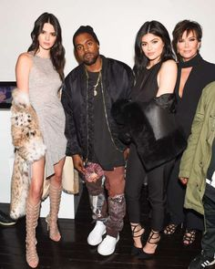 Celeb photos of the year 2016:      Kendall Jenner, Kanye West, Kylie Jenner and Kris Jenner attend the Kendall & Kylie Collection launch event in New York City on Feb. 8, 2016.