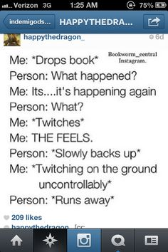 """While I'm reading the Mark of Athena: I sit on my bed saying, """"Oh my gods. Oh my f*cking gods. Rick RIordan you little pile of schist."""""""