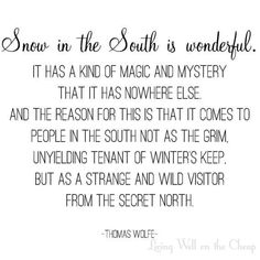 Snow in the South :) It's such a treasure when it finally decides to visit us....S.N.O.W.