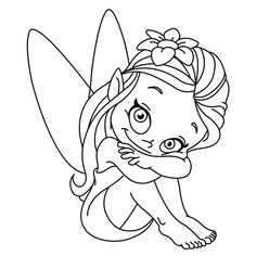 Coloring Pages: Fairy Coloring Pictures Fairy Coloring Fairy Coloring Pages, Disney Coloring Pages, Free Printable Coloring Pages, Adult Coloring Pages, Coloring Pages For Kids, Coloring Books, Unicorn Coloring Pages, Outline Illustration, Free Vector Illustration