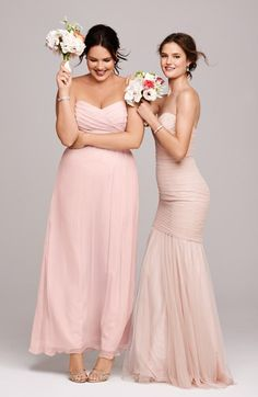 Pretty in pink - loving these bridesmaid gowns
