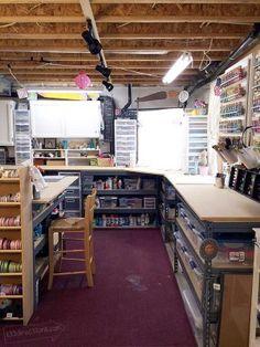 Organizing a craft space