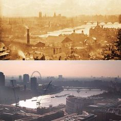 A new book, 'The Queens' London', makes a striking comparison of the city in the diamond Jubilee years of Victoria and Elizabeth II. Victorian London, Vintage London, Old London, London City, London Skyline, London History, British History, England Ireland, London England