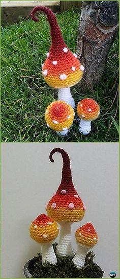 Crochet Gradation Mushroom Amigurumi Paid Pattern -Amigurumi Crochet Mushroom Softies Patterns