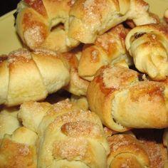 PYSZNE ROGALIKI Z POWIDŁAMI by Basiulek on www.przepisownia.pl Calzone, Pretzel Bites, French Toast, Pizza, Bread, Cookies, Breakfast, Food, Thumbnail Image