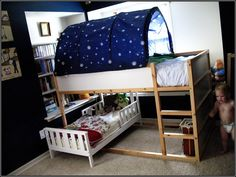 Another Ikea Kura Bed with toddler bed underneath.