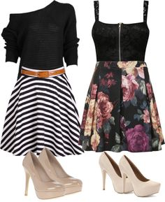 """skirt & heels"" by torrriii ❤ liked on Polyvore"