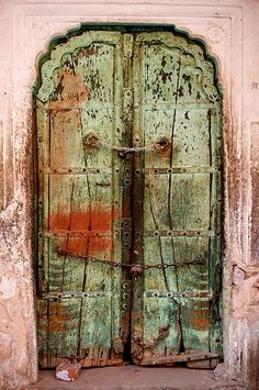 ancient door in Jaipur, India
