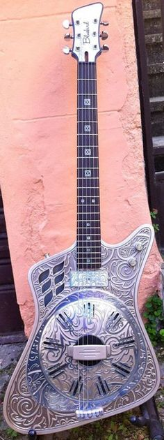 "frettedchordophones: "" Bluebird'56 ""Americana"" electric Resonator Guitar "" =Lardy's Chordophone of the day - a year ago"