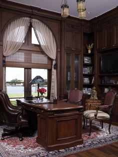 Diaz Home Office - Traditional - Home office - Images by B. Pila Design Studio | Wayfair