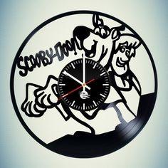 Scooby Doo Vinyl Record Wall Clock Room Dcal - VINYL CLOCKS