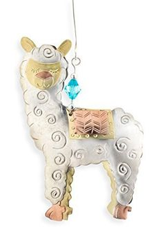 Whimsical Alpaca With oodles of charm, our Whimsical Alpaca Ornament brings its own star power to your glittering tree.  This is the perfect ornament for the alpaca-lover's tree and takes first place in capturing the warmth and fun of the holiday season.  Hand-crafted in a small village in Thailand and purchased through fair trade living wage principles.  Materials:  hand crafted from plated nickel, copper, and brass.
