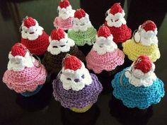 mini Cupcakes com cheirinho | Armazém de Crochê | FCA7D - Elo7