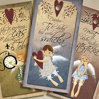 Cedulky / Domov | Fler.cz Little Gifts, Cover, Frame, Christmas, Sd, Angels, Home Decor, Nice Asses, Picture Frame