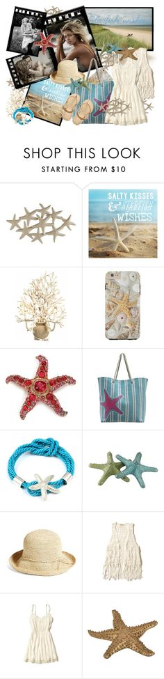 """""""Saltu kises starfish wishes"""" by tasha1973 ❤ liked on Polyvore featuring moda, Pier 1 Imports, Currey & Company, Kenneth Jay Lane, Crestview Collection, Helen Kaminski, Hollister Co., women's clothing, women's fashion y women"""