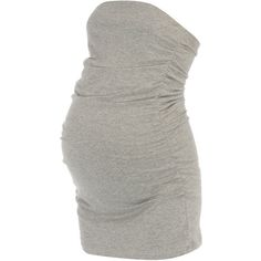 Maternity grey bandeau top ($5.27) ❤ liked on Polyvore featuring maternity, dresses, maternity clothing and maternity tops
