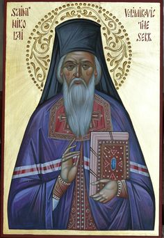 Saint Nikolai Velimirovich, Bishop of Ochrid and Zhicha icon hand-painted by Georgi Chimev Paint Icon, Orthodox Icons, Egypt, Ph, Africa, Hand Painted, Christian, Icons, Christians