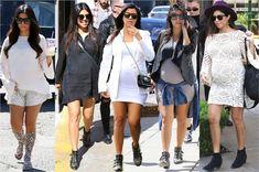 26 vezes onde Kourtney Kardashian foi a mais estilosa das grávidas!