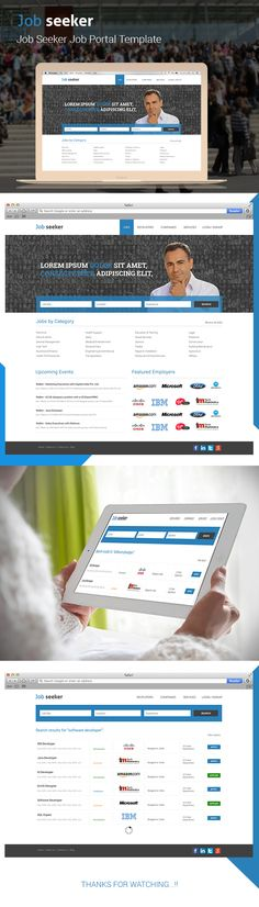 Job seeker - Job Portal Template on Behance