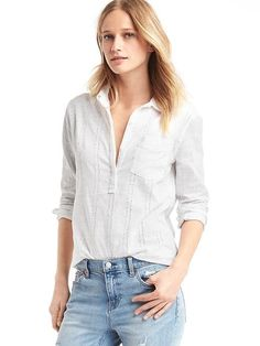Boyfriend eyelet popover from GAP