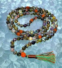 Chakra Healing 108 Agate Dragon Vein & Rudraksha Handmade Prayer Beads – AwakenYourKundalini