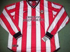 2001 2003 Southampton Wayne Bridge Signed Club COA BNWT L/s Football Shirt