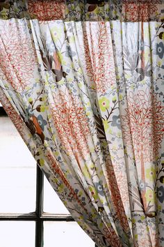 This new take on floral curtains adds just the right amount of color and fun to any simple room!