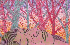 """Dawn"" 40"" x 26"" Oil stick over acrylic on paper. 2015 by Benjamin Degen"