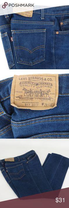 c6a309654c Levi Strauss Co Mens 517 Blue Straight Leg 29 x 26 Levi Strauss Co Mens 517
