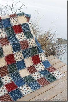 Rag Quilt, good picnic quilt - popculturez.com #DIY #Doityourself