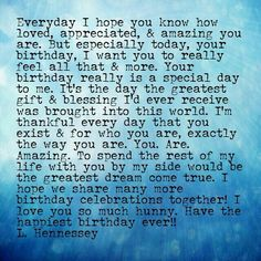 Lucky Happy Birthday Quotes For Him, Birthday Greetings For Boyfriend, Birthday Wishes For Lover, Birthday Message For Boyfriend, Happy Birthday My Love, Birthday Wishes Quotes, Happy Quotes, Birthday Messages, Happy Birthday Girlfriend Quotes