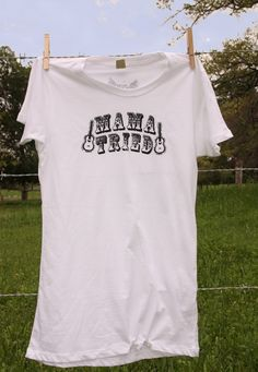 MAMA TRIED WHITE UNISEX TEE - Junk GYpSy co.