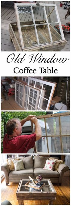 Easy DIY Furniture Ideas | Upcycling Projects with Old Windows | DIY Rustic Coffee Table Ideas | DIY Projects and Crafts by DIY JOY