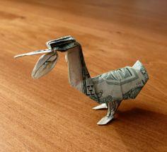 Pelican Money Origami - Dollar Bill Art