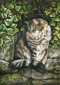 ❧ cats illustrations ❧ 2 by Irina Garmashova-Cawton