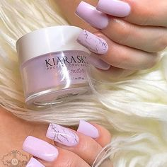 you're looking for a lavender nail color then 'D'Lilac' will delight you! created this beautiful Dip Powder mani. Sns Nails Colors, Lilac Nails, Lavender Nails, Lavender Colour, Nail Manicure, Nail Polish, Mani Pedi, Sky Nails, Prom Nails