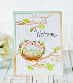 Welcome Little One Card by Betsy Veldman for Papertrey Ink (March 2017)