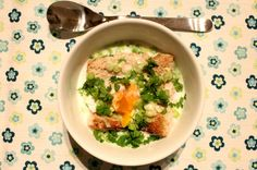 Changua - poached egg in milk soup #soup