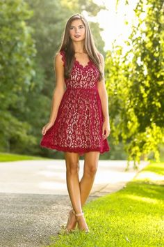 Wine lace dress! Perfect for any special occasion or the holidays! Stunning! Must have!