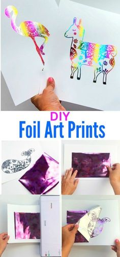 It's incredibly easy to make your own DIY foil art prints. All you need are some prints, an inexpensive laminator and craft foil to create your own. Learn how easy it is to make foil prints with… Arts And Crafts For Teens, Art Projects For Teens, Arts And Crafts Projects, Art For Kids, Art Ideas For Teens, Art Club Projects, Teen Crafts, Crafts For Seniors, Decor Crafts